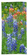 Texas Wildflowers Bath Towel