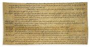 The Bill Of Rights, 1789 Hand Towel