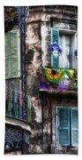 The French Quarter During Mardi Gras Bath Towel