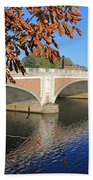 The River Thames At Hampton Court London Bath Towel