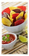 Tortilla Chips And Salsa Bath Towel