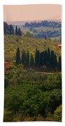 Tuscan Landscape Bath Towel