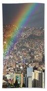 Urban Rainbow La Paz Bolivia Bath Towel