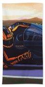Valentino Rossi On Ducati Bath Towel