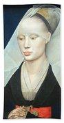 Van Der Weyden's Portrait Of A Lady Bath Towel