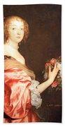 Van Dyck's Catherine Howard -- Lady D'aubigny Bath Towel