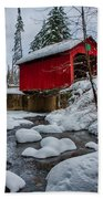 Vermonts Moseley Covered Bridge Bath Towel