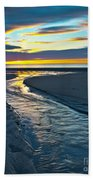 Wells Beach Maine Sunrise Bath Towel