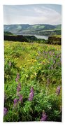 Wildflowers In A Field, Columbia River Bath Towel