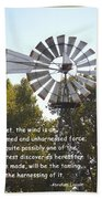 Windmill With Lincoln Quote Bath Towel