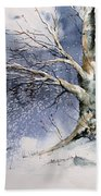 Winter Tree Bath Towel