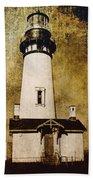 Yaquina Head Lighthouse - Oregon Bath Towel