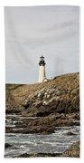 Yaquina Head Lighthouse - Pov 1 Bath Towel