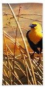 Yellow - Headed Blackbird Bath Towel