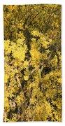 Yellow Spring Bath Towel