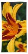 Yellow Tiger Lily Bath Towel