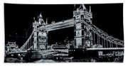 Tower Bridge Art Bath Towel