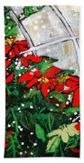 2013 010 Poinsettias And Dots Conservatory At The Us Botanic Garden Washington Dc Bath Towel