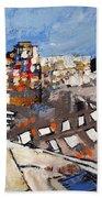 2013 015 Crosswalk Silver Orange And Blue Arlington Virginia Bath Towel