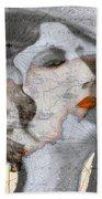 Ancient Cyprus Map And Aphrodite Bath Towel