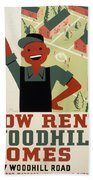 New Deal Wpa Poster Hand Towel