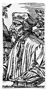 John Wycliffe (1320?-1384) Bath Towel
