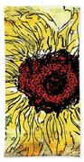 24 Kt Sunflower - Barbara Chichester Bath Towel