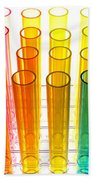 Laboratory Test Tubes In Science Research Lab Bath Towel