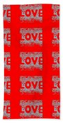25 Affirmations Of Love In Red Bath Towel