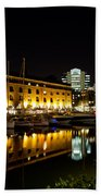St Katherines Dock London Bath Towel