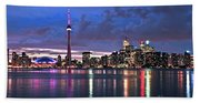 Toronto Skyline Bath Towel