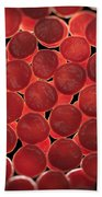 Red Blood Cells Bath Towel