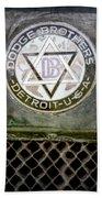 1923 Dodge Brothers Depot Hack Emblem Bath Towel