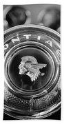 1933 Pontiac Steering Wheel Emblem Bath Towel