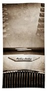 1956 Austin-healey 100m Bn2 'factory' Le Mans Competition Roadster Hood Emblem Bath Towel