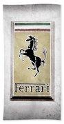 1959 Ferrari 250 Gt Emblem Bath Towel