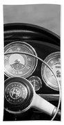 1961 Alfa Romeo Giulietta Spider Steering Wheel Emblem -1185bw Bath Towel