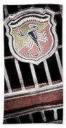 1967 Fiat Abarth 1000 Otr Emblem Bath Towel