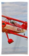 A Pitts Special S-2a Aerobatic Biplane Bath Towel