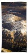 Aerial Mountains Bath Towel