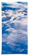 Aerial View Of Snowcapped Peaks In Bc Canada Bath Towel