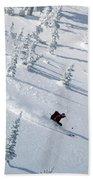 Backcountry Ski Traverse In Glacier Bath Towel