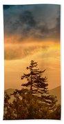 Blue Ridge Parkway Autumn Sunset Over Appalachian Mountains  Bath Towel