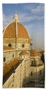 Brunelleschi's Dome At The Florence Cathedral  Bath Towel
