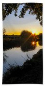 Canal Sunset Bath Towel