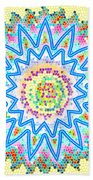 Colorful Signature Art Chakra Round Mandala By Navinjoshi At Fineartamerica.com Rare Fineart Images  Bath Sheet by Navin Joshi