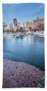 Charlotte North Carolina Marshall Park In Winter Bath Towel