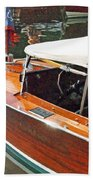 Chris Craft Runabout On Geneva Bath Towel