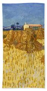 Corn Harvest In Provence Bath Towel