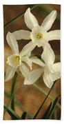 3 Daffodils Bath Towel